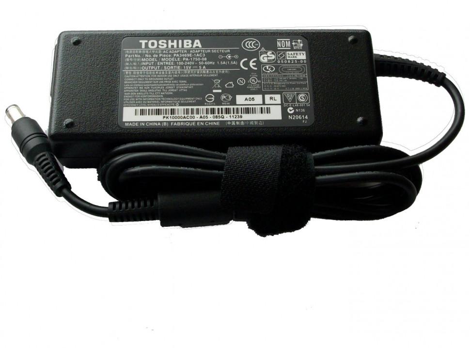 ���� ������� Toshiba (��� ���������) 15v-5a (����� 6.0�3.0��) 75w