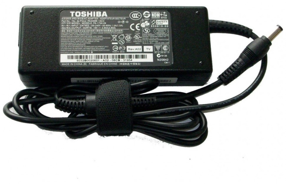 ���� ������� Toshiba (��� ���������) 19v-3.95a (����� 5.5x2.5��) 75w ADP-75SB